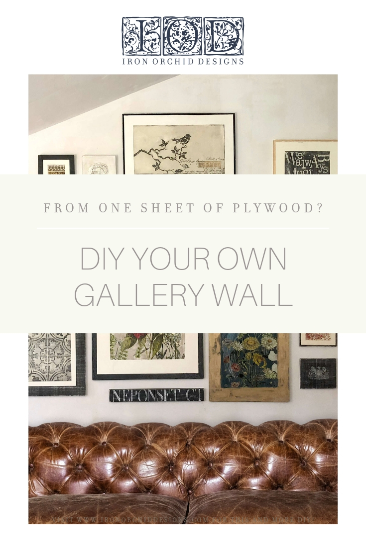 How to DIY Your own IOD Gallery Wall From ONE SHEET OF PLYWOOD!